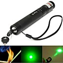LS320 Lockable Adjustable Focus Green Light Laser Pointer(5mw, 532nm, 1x18650, Black)