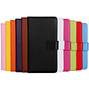 Solid color Genuine PU Leather Flip Cover Wallet Card Slot Case with Stand for Samsung galaxy Note 4(Assorted Colors)
