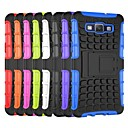 Tire Wave Pattern TPU Back Case with Holder for Samsung A5