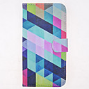 Color Grids Pattern PU Leather Full Body Case with Card Slot for Samsung Galaxy S5 I9600