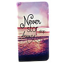 Never Stop Dreaming Pattern PU Leather Case with Stand and Card Slot for Samsung Galaxy A5