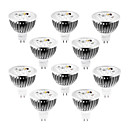 10st dimbaar MR16 4x1W 4W 400lm warm wit / wit / koel wit led spot lamp 12v