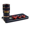 apexel 4 i 1 skit 8x teleobjektiv + vidvinkel + makroobjektiv + fisheye-objektiv med tillbaka fallet för iphone 5 5s