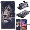 The Lion Design PU Leather Stand Case with Card Slot for Samsung Galaxy S6