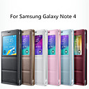 2015 New Smart View Window Auto Dormancy Sleep Function Flip Leather Cover Case For Samsung Galaxy Note 4