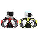 GoPro voksen dykkermasker ét vindue pvc ramme / silikone stribe hærdet glas