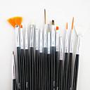 Buy 1Black Handle Nail Art Design Painting Drawing Pen Brush Set&2-way Dotting Marbleizing Tool