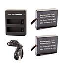 defery-de 1160mah récent AHDBT-401 batterie + chargeur USB double pour GoPro Hero 4 gopro4 caméra HD