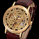 MCE Branded Skeleton Automatic Mechanical Watches With Black Leather Band Watches