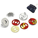 Buy 10 Sets Metal Bag Sewing Magnetic Clasp Buttons 0.7 inch HOT