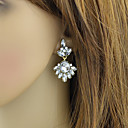 Wholesale Chandelier Style White Rhinestone Women Stone Earrings