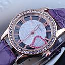 Buy Women's Diamante Round Dial PU Band Quartz Analog Dress Watch Cool Watches Unique