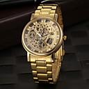 Buy Men's Dress Watch Elegant Hollow Design Quartz Gold Steel Strap Wrist Cool Unique Fashion