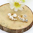 Buy Stud Earrings Crystal Pearl Imitation Rhinestone Gold Plated 18K gold Simulated Diamond Fashion Silver Rose Jewelry
