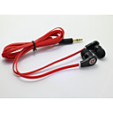 classic 1.0 hodetelefon 3,5 mm i øret 100cm for iphone / samsung / Huawei / hirse / rød ris / htc (assortert farge)