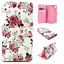 Buy Sony Case Card Holder / Wallet Stand Flip Full Body Flower Hard PU Leather Xperia M4 Aqua