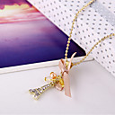 Set auger bowknot ribbon Paris Eiffel Tower necklace