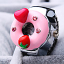 Buy Women's New Exquisite Fashion Round Fruit Heart-Shaped Diamond Dial Steel Strap Quartz Ring Watch (Random Color)
