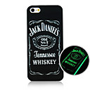 English Pattern Luminous Phone Case Back Cover Case for iPhone5C