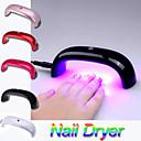 AL-0701 Fashion Portable 9W 100-240V LED Light Bridge shaped Mini Curing Nail Dryer Nail Art Lamp Care Machine