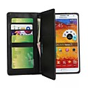Multi-function Wallet Style Solid Color PU Leather Full Body Protection Cover with Card Slot for Samsung Galaxy Note 3