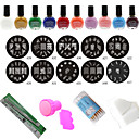 Nail Art Stencils Stamping Template Tools(24Pcs/Set)