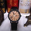Buy Simulation Wooden Relojes Quartz Men Watches Casual Color Leather Strap Watch Wood Male Wristwatch Cool Unique