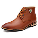 Buy Men's Spring Summer Fall Winter Comfort Fashion Boots Roller Skate Shoes Leather Office & Career Casual Athletic Flat Heel Lace-upBlack
