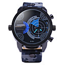 Men'S Double Movement Radar Watches Military Camouflage Leather Strap Watch Cool Watch Unique Watch