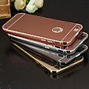 Buy Luxury Plated Aluminum Metal Frame+Mirror Acrylic Back Cover Shell Case iPhone 6/6S(Assorted Colors)
