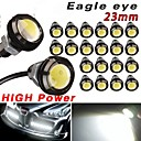20 X Motor Car 9W White Eagle Eye 23mm LED Daytime Running DRL Tail Backup Bulbs