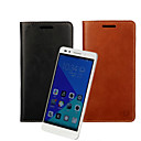 Buy Huawei Case Card Holder / Wallet Stand Flip Full Body Solid Color Hard PU Leather Honor 7