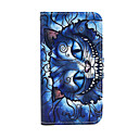 Blue Cat Pattern PU Leather Case with Stand for Samsung Galaxy S3 Mini I8190/S4 MINI I9190/S5 Mini