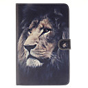 The Lion Pattern PU Leather Full Body Case with Stand and Card Slot for iPad mini 4