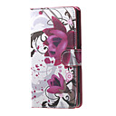 Buy Purple Flowers PU Magnetic Leather wallet Flip Stand Case cover Huawei Honor 4A / Y6