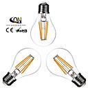 Lámparas LED de Filamento Regulable ONDENN A E26/E27 4.0 W 4 COB 400 LM Blanco Cálido AC 100-240/AC 110-130 V 3 piezas