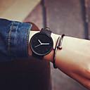 New Women Black Geek Fashion Casual Waterproof Cool Minimalist Unisex Quartz Rubber Strap Wristwatches Cool Watches Unique Watches