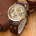 Men's Vintage Skeleton Bronzen Leather Band Automatic Mechanical Wrist Watch