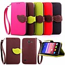 Buy Leaf Pattern PU Wallet Leather Case Hand Line Huawei P8 Lite/P8/G6/G7/Y550(Assorted Colors)