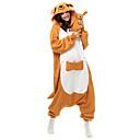 Buy Kigurumi Pajamas Kangaroo Leotard/Onesie Halloween Animal Sleepwear White Patchwork Polar Fleece Unisex