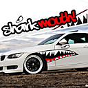 Buy Red Grey Shark Mouth Garland Car Styling Reflective Vinyl Sticker Auto Cool Refitting Exterior Decal Side Door