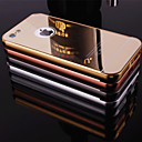 Plating Mirror Back with Metal Frame Phone Case for iPhone 5C(Assorted Colors)