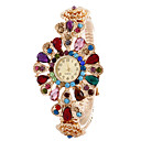 Buy Women's Watches Fashion Crystal Flowers Bracelet Watch Cool Unique