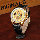 Buy Men's Business Hollow Full Automatic Round Dial Leather Band Machine Analog Wrist Watch(Assorted Color) Cool Watch Unique