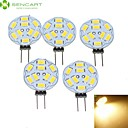 5 x G4 / MR11 / gu4 / GZ4 4.5W warm wit 450lm LED-lampen (12v ac / dc)