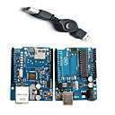 Buy UNO R3 Board Module + Ethernet Shield W5100 Arduino – Blue
