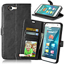 Buy Full Body Wallet / Card Holder Stand Solid Color PU Leather Hard Case Cover HuaweiHuawei P8 Lite Huawei P7 Y550