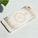 White Sunflower Style Transparent PC Hard Back Cover for iPhone 6/6S 4.7