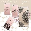 maycari®black et blanc arrière TPU étui transparent souple pour 6s iphone 6 / iphone (couleurs assorties)