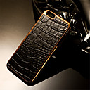 Buy Luxury Retro Crocodile Grain PU Leather+Plating PC Golden Brand mobile phone skin case Cover iPhone 6/6S